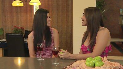 Mature lesbian India Summer scissoring with teen Raylene
