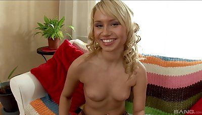Blonde teen Mia is going to be even happier after anal dildoing