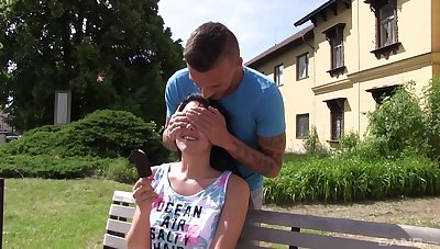 Hardcore outdoor reality sex with a brunette teen babe Emily Hamilton