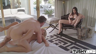 TUSHY Dominating Wife Watches As Her Husband Fucks Teen