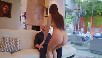 Johnny Sins shafting a tall Latina tot Eliza Ibarra like no one's watching