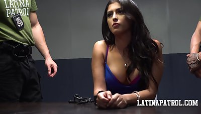 Restraint Latin babe Sophia Leone is fucked indestructible unconnected with kinky policeman