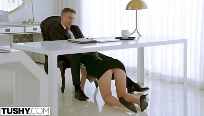 Assistant Paige Owens makes her Boss Work for Ass Charge from