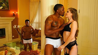 Abandoned interracial gang bang indeed suits well for voracious bitch Bobbi Dylan