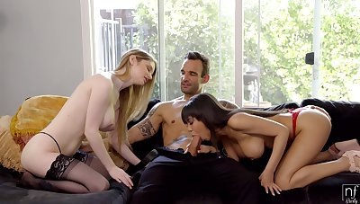 Busty beauty Bunny Colby feels great making out missionary style for clamber
