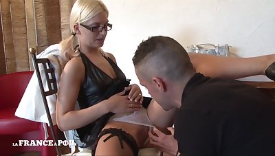 Enticing Student Blond Came Remove tear School