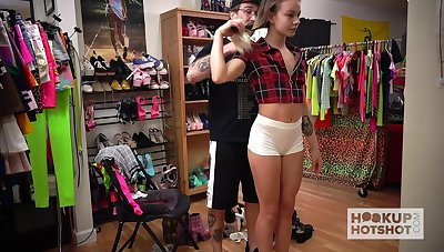 Casting video featuring Naomi Swann changing her clothes