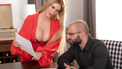 Casca Akashova, beautiful blonde bombshell gets a big thick cock be beneficial to her MILF pussy