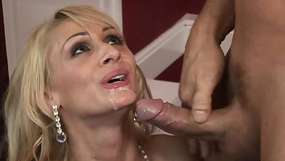 Energized in the buff porn with a slim blonde addicted to the cock