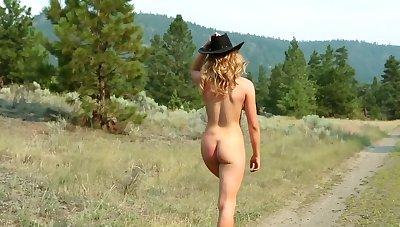 Amazing blonde Maya Rae loves to masturbate in nature