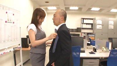 Small tits Japanese unspecific Kaede Fuyutsaki gets fucked regarding the office
