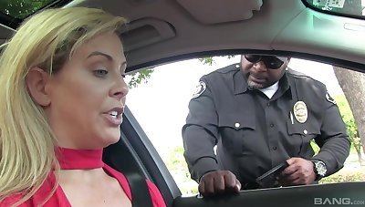 Marvelous blonde pulled over and roughly fucked